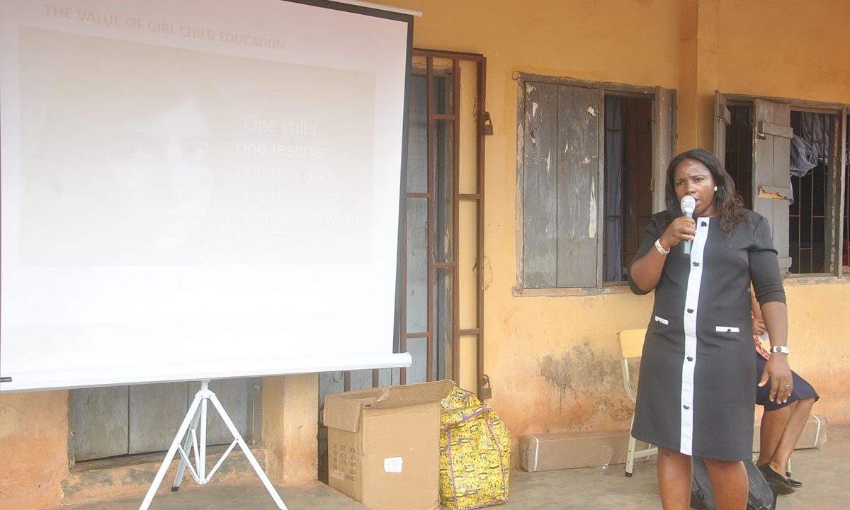 CL-GEYEF President Lectures the students on 'The Value of Girl Child Education in Nation Building'